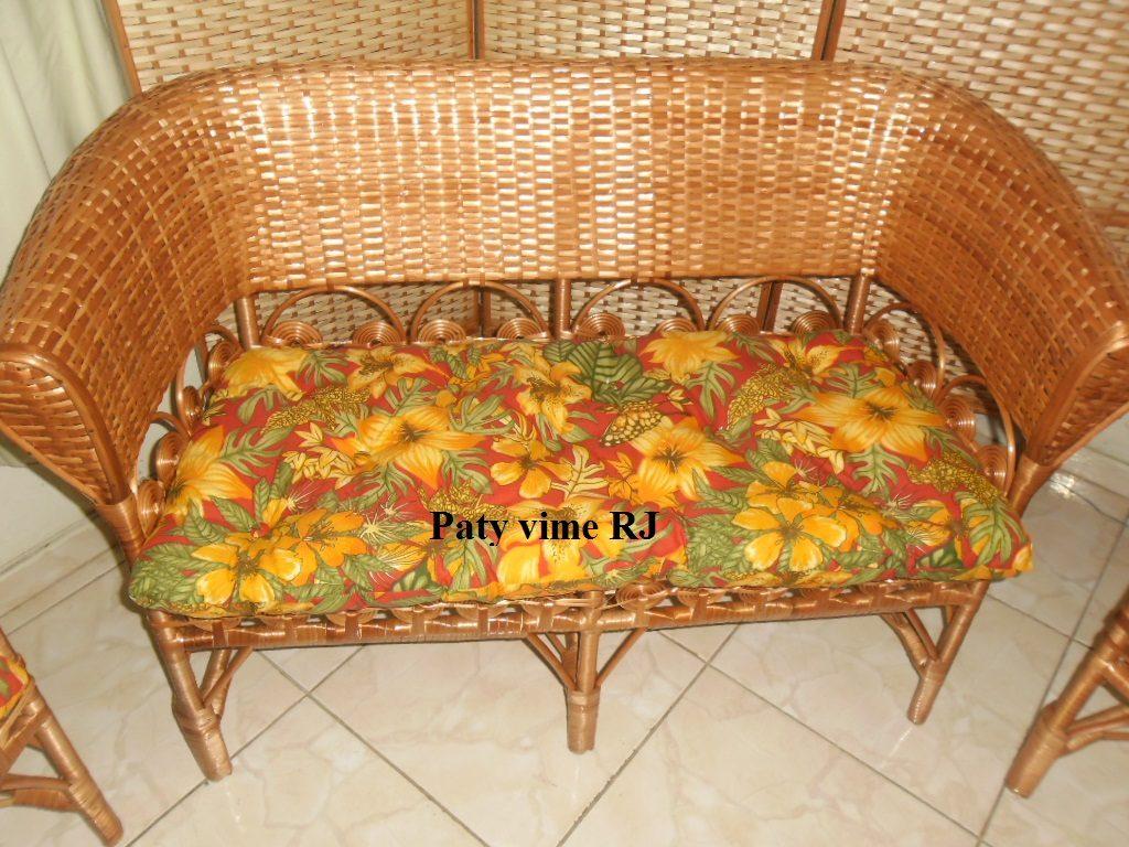 Sofá De Vime Marquesa Com 2 Lugares + Almofada'namoradeira' R$ 638,00 em Mercado Livre