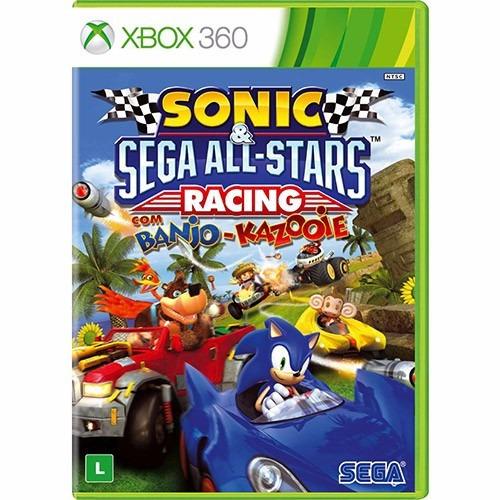sonic & sega all-stars racing c/ banjo-kazooie - xbox 360