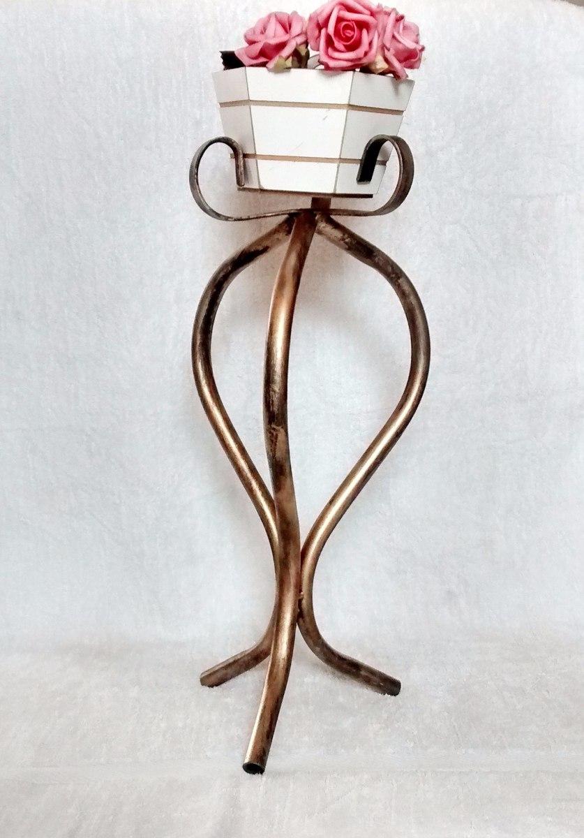 Suporte para planta vaso em ferro pedestal pequeno oferta r 48 69 em mercado livre - Pedestal para plantas ...