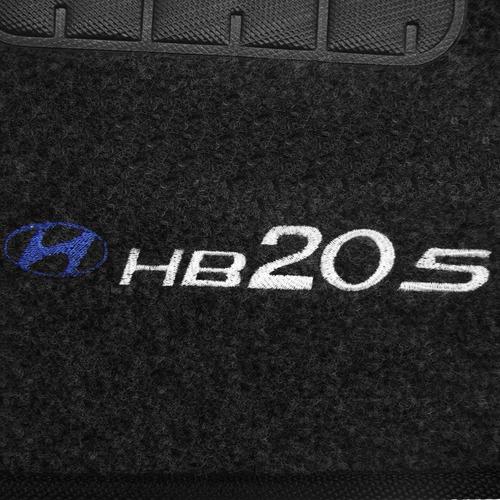tapete carpete hb20s gafite 2014 logo bordado 2 lados