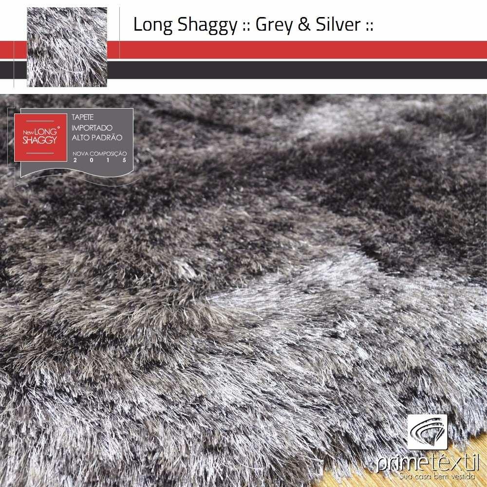 Tapete Long Shaggy, Fio De Seda 70mm, Importado, 2,50x3,00m - R$ 1.749
