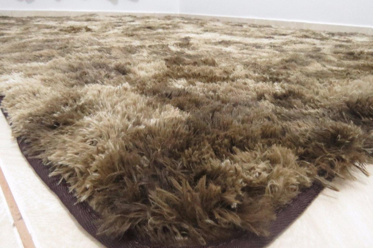 Tapete peludo felpudo 45cm sala shaggy luxo 200 x 250 for Tapis 2 50 x3 50