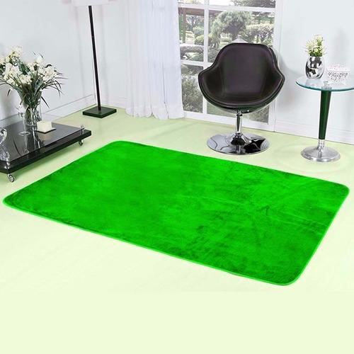 Tapete Verde Em Pelúcia Para Sala Quarto Liso 2m X 1,40m  ~ Tapete De Quarto Verde