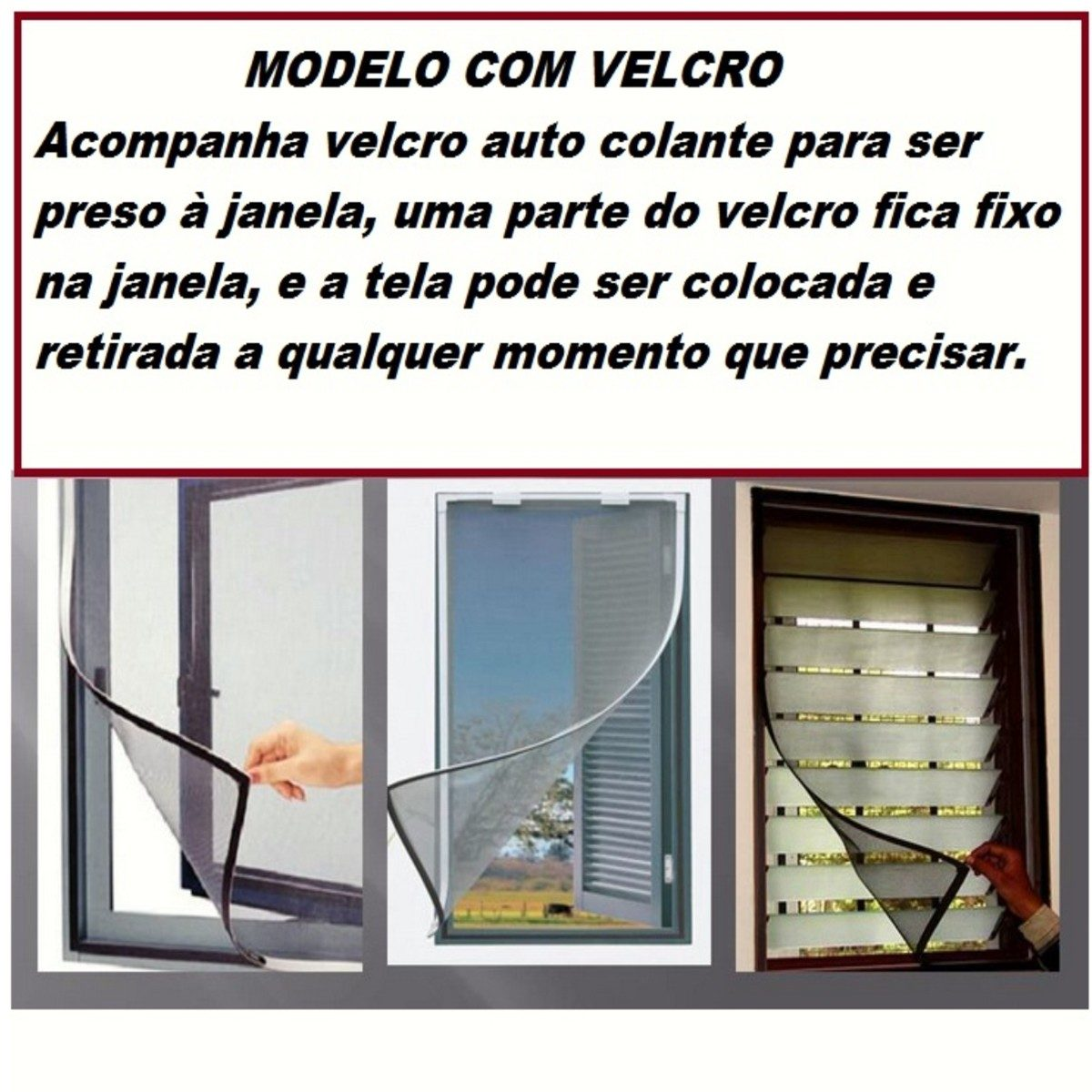 #741C24 Tela De Janela Protetora Contra Insetos E Mosquito Da Dengue R$ 26  1466 Tela Janela Contra Pernilongo