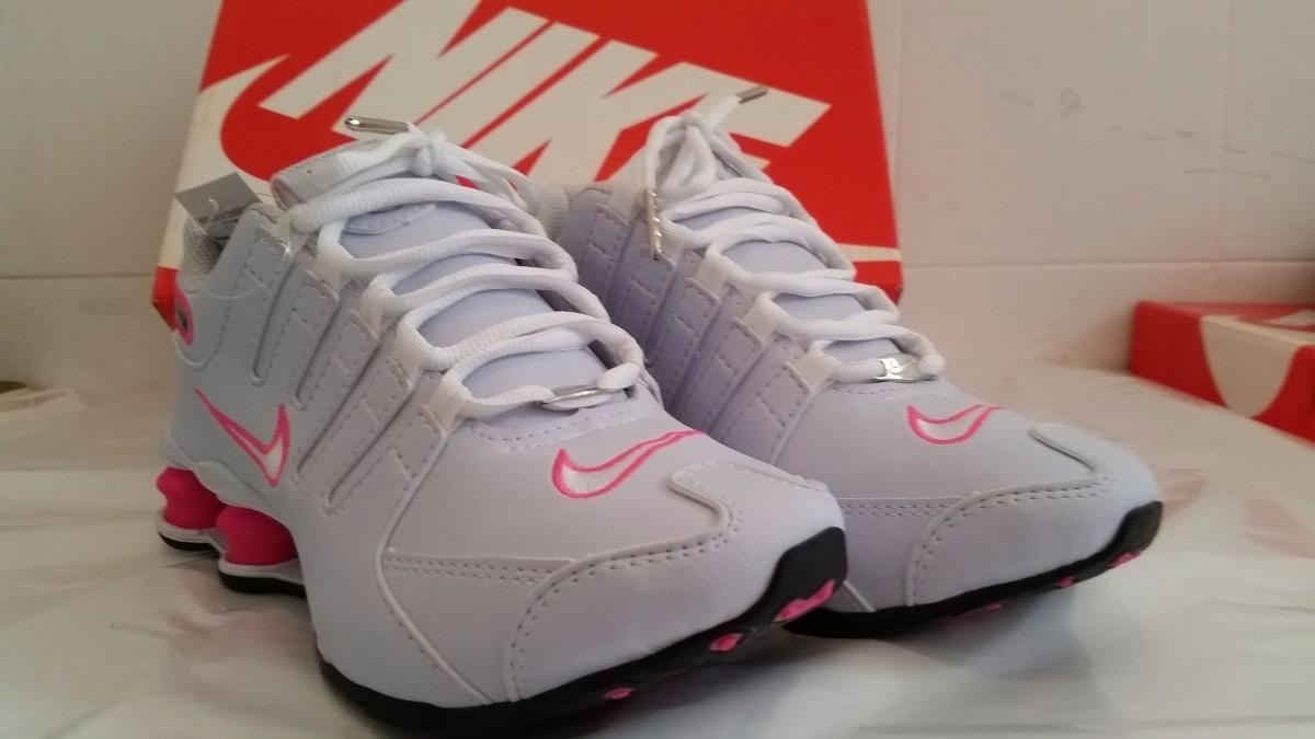 db5c5cfc57 nike shox nz feminino branco e rosa sneakeroutlet