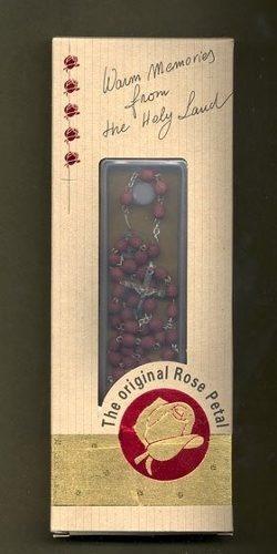 terço rosário feito com pétalas de rosas de jerusalém