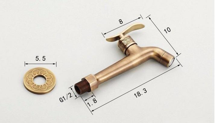 Torneira Bronze Em Estilo Provençal Parede Banheiro Pia Cuba  R$ 230,00 em M -> Pia De Banheiro Estilo Provencal