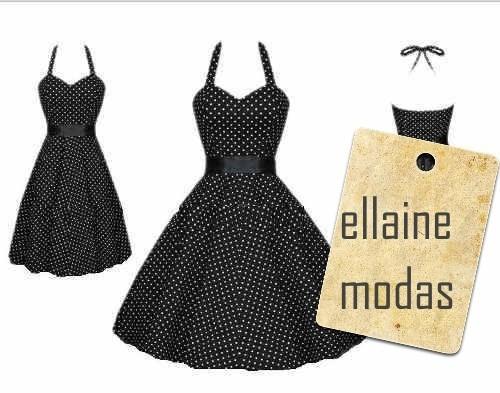 vestido de bolinha frente única