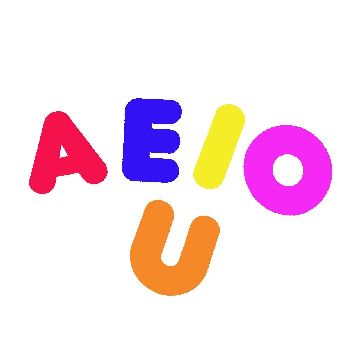 Resultado de imagem para vogais coloridas